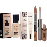 Maliao Water Base Oil Free Primer With Mousse Foundation With Concealer 2 in 1 Concealer Stick