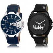 The Shopoholic Blue Black Combo New Stylist Latest Blue And Black Dial Analog Watch For Boys For Womens Watches