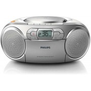 Micro Sistem Philips AZ127, Caseta, CD Player (Argintiu)
