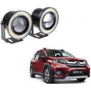 Auto Addict 3.5 High Power Led Projector Fog Light Cob with White Angel Eye Ring 15W Set of 2 For Honda BRV