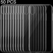 50 PCS Ultra - Delgada De TPU Caso De 0,75 Mm Transparente Para IPhone XS