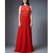 Fiery Red Gown