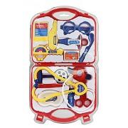 Heer Doctor Set Doctor Nurse Family Oprated Set Medical Suitcasetoy for Kids (Red) (Heer_Red)