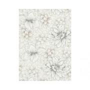 Tapet vlies imprimeu floral bej 10,05x0,53 m