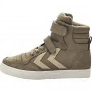 Hummel Stadil Oiled High Jr Sneaker, Taupe/Grey Gr30