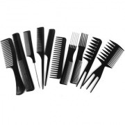 Kushahu Pack of 10 Pcs Professional Different Hair Comb Set Good For Barber Salon Hair Styling Hairdressing
