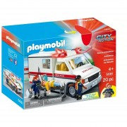 Ambulancia Playmobil Original Con Luces Y Sirena - 5681