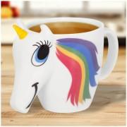Thumbs Up Colour Changing Unicorn Mug - White