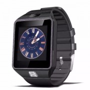 "Smartwatch Cronos DZ09, Capacitive touchscreen 1.54"", VGA, Bluetooth, Bratara silicon, Functie telefon (Negru)"