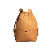 Fabelab Storage bag - bear - ochre 60 x 40 cm