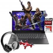 Laptop Lenovo S145 Amd A6 9225 Radeon 1TB 8GB + Micro Drone y Diadema