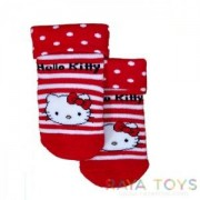 Детски чорапи Hello Kitty червени Disney