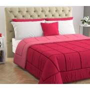 Blanco 170207 Trapunta Invernale Matrimoniale 260x260 Cm In Microfibra E Fibra Anallergica Double Face Tinta Unita Colore Pink / Fuxia - 170207