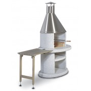 Norman Odkladací stolík ARCUS drevo sivý