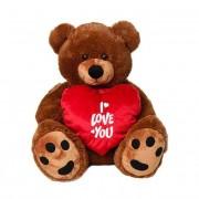 Big 3 Feet Brown Teddy Bear holding I Love You Heart