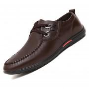 Zapatos De Ecocuero Ocio Para Hombres - Marrón