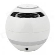 Altavoz portatil Bluetooth v3.0 con FM / TF / Microfono / Manos Libres - Blanco + Negro