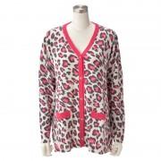 SL 元氣カラーのレオパード柄ニットカーディガン【QVC】40代・50代レディースファッション