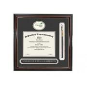 "Signature Announcements Cincinnati-State-Technical-&-Community-College Marco de Diploma de graduación, 16"" x 16"", Dorado Acento Brillante Caoba"