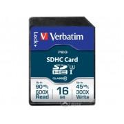 Card memorie Verbatim PRO Class10 UHS-I 16GB SDHC