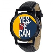 S4 Analog Black Dial Men's Boys Watch yes we can