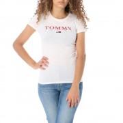 Tommy Jeans T-Shirt Slim Donna Essential, Taglia: S, Per adulto Donna, Bianco, DW0DW07524-YA2