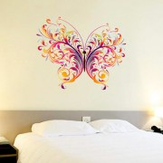 SS creators Small Wall sticker decals Artificial and multicolor butterfly Sticker