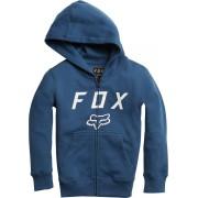 FOX Youth Legacy Moth Zip Fleece Ungdom Hoodie Blå XL