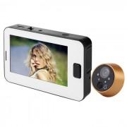 TFT LCD de vision nocturna digital timbre de la puerta Mirilla de puerta - Blanco