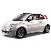 Bburago Modelauto Fiat 500 cabrio wit 1:24