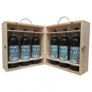 Birra Morena Craft Beer - 6 bottiglie cl 75 in cassa di Abete - Naturale - Ipa Ale -