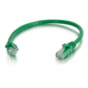 C2G 1.5m Cat6 Patch Cable 1.5m Cat6 U/UTP (UTP) Green networking cable