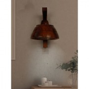 Fos Lighting 12 Watts LED Asian Wooden Bowl Wall Hanging Sconce