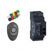 Schneider XB5RMA04 vezeték nélküli nyomógomb kit XB5 programozható 24..240 V AC/DC (Harmony XB5RMA04)