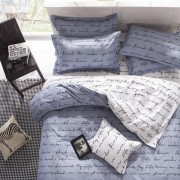 3 Or 4pcs Polyester Fiber Letters Reactive Dyeing Bedding Sets Single Twin Queen Size