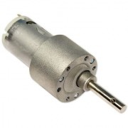 TechDelivers 200 rpm Johnson Side Shaft Metal Geared Motor 12v DC High Torque - 1 Piece