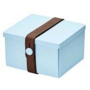 Uhmm Box vierkant Light Blue - Brown