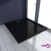 vidaXL Pravokutna ABS tuš-kada crna 80 x 90 cm