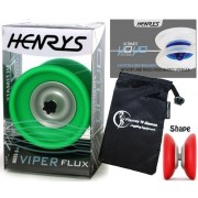 Henrys YoYo's Henrys VIPER FLUX Pro YoYo Professional Off String Bearing YoYo +Instructional Booklet of Tricks & Travel Bag! Top Of The Range YoYo! Pro YoYos For Kids and Adults!