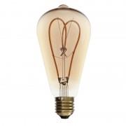 """Barcelona LED Ampoule LED filament E27 4W dimmable """"Coeur ST64"""" - Ampoules LED E27"""