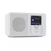 "Auna Commuter, DAB + / FM радио, USB, AUX, 2,4 ""TFT дисплей, дистанционно управление, бяло (KC6_Mate WH)"