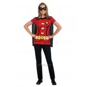 T-shirt com mascarilha Robin mulher - Taille: Small
