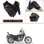 AutoStark Gloves KTM Bike Riding Gloves Orange and Black Riding Gloves Free Size For Bajaj Avenger 220 Cruise