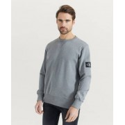 Calvin Klein Sweatshirt Monogram Sleeve Badge CN Grå