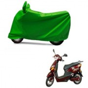AutoAge Full Green Two Wheeler Cover For Electric Optima Plus