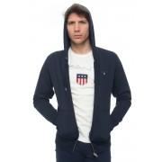 Gant Felpa zip con cappuccio Blu Cotone Uomo