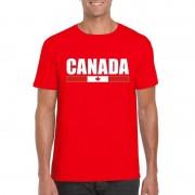 Shoppartners Rood Canada supporter t-shirt voor heren