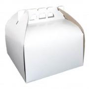 Cutii Albe pentru Tort CT4, 30x30 cm, 25 Buc/Bax, Carton Duplex - Ambalaje Patiserie