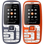 Poya Prime (1.8 Inch Dual Sim Glare Torch Light Auto Call Recorder Set Of Two Mobiles Red+Blue Color)