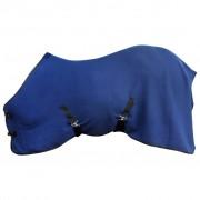 vidaXL Fleecová pokrývka s popruhmi, 125 cm, modrá
